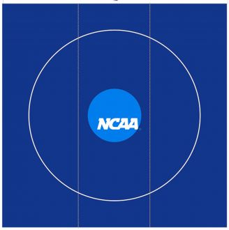 2019 NCAA® Mat D13 - BRIGHT BLUE