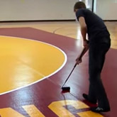 easy setup and tear down with the zip tape-free wrestling mat